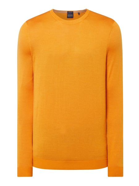 Christian Berg Men Pullover aus Woll-Seide-Mix Orange - 1