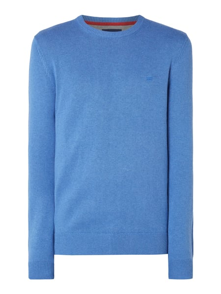 Christian Berg Men Pullover mit Logo-Stickerei Blau / Türkis - 1
