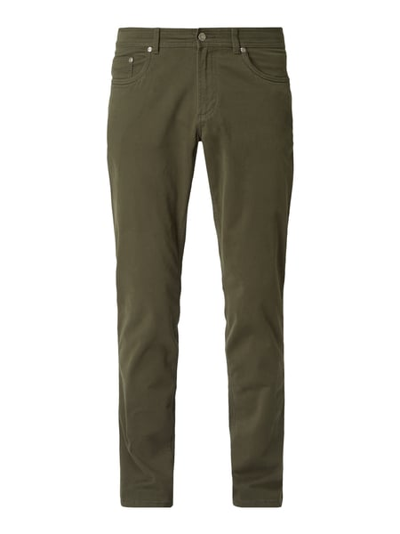 Christian Berg Men Regular Fit 5-Pocket-Hose mit Stretch-Anteil Grün - 1