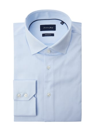 Christian Berg Men Regular Fit Business-Hemd aus Twill Blau - 1