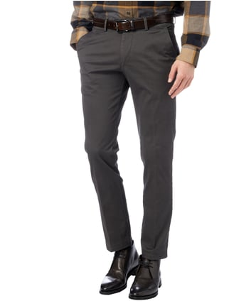 Christian Berg Men Regular Fit Chino mit Stretch-Anteil Anthrazit - 1