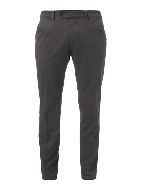 Regular Fit Chino mit Stretch-Anteil Grau / Schwarz - 1