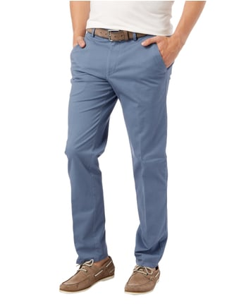 Christian Berg Men Regular Fit Chino mit Stretch-Anteil Aqua Blau - 1