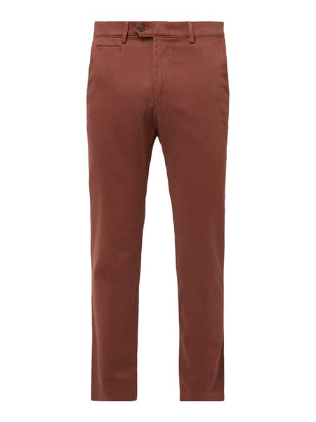 Christian Berg Men Regular Fit Chino mit Stretch-Anteil Rot - 1