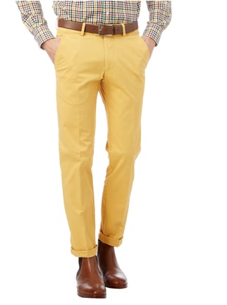 Christian Berg Men Regular Fit Chino mit Stretch-Anteil Gelb - 1