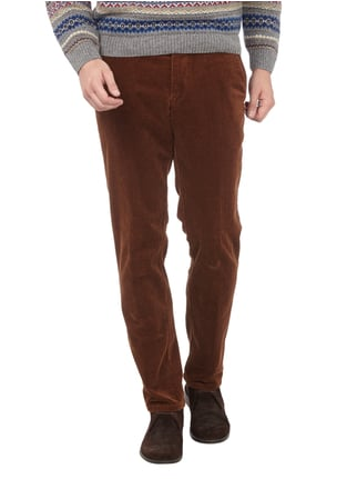 Christian Berg Men Regular Fit Cordhose mit Stretch-Anteil Cognac - 1