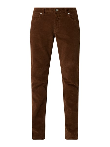 Christian Berg Men Regular Fit Cordhose mit Stretch-Anteil Beige - 1