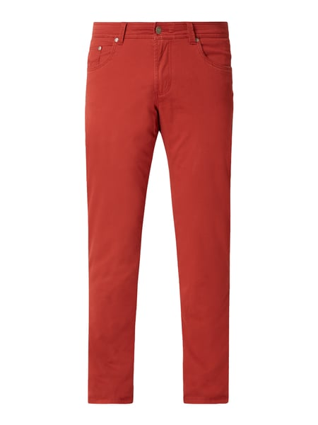 Christian Berg Men Regular Fit Hose mit Stretch-Anteil Rot - 1