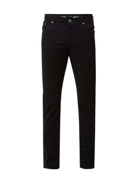 Christian Berg Men Regular Fit Hose mit Stretch-Anteil Grau / Schwarz - 1