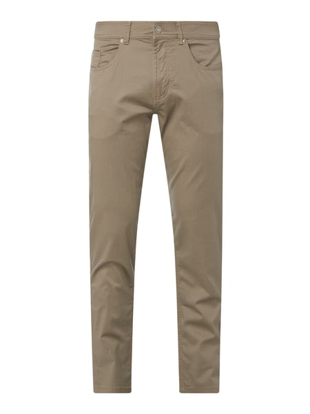 Christian Berg Men Regular Fit Hose mit Stretch-Anteil Beige - 1