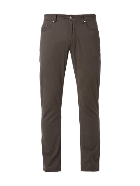 Christian Berg Men Slim Fit 5-Pocket-Hose mit Stretch-Anteil Dunkelgrau