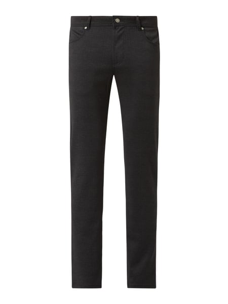 Christian Berg Men Slim Fit Hose mit Viskose-Anteil Grau - 1