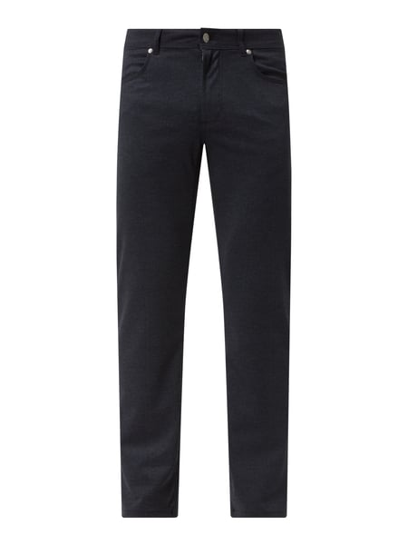Christian Berg Men Slim Fit Hose mit Viskose-Anteil Blau - 1