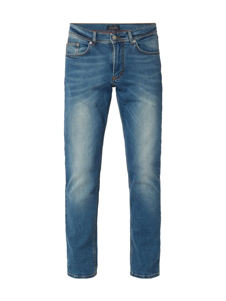 Christian Berg Men Stone Washed 5-Pocket-Jeans Royalblau