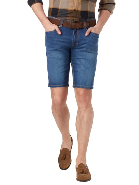 Christian Berg Men Stone Washed Jeansbermudas Blau - 1