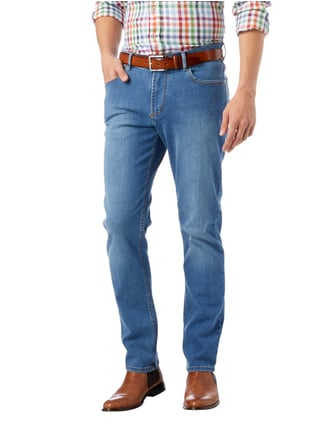 Christian Berg Men Stone Washed Regular Fit 5-Pocket-Jeans Bleu meliert - 1