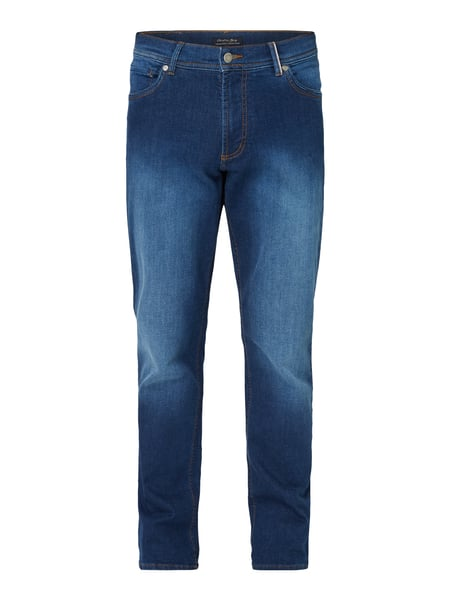 Christian Berg Men Stone Washed Regular Fit Jeans Blau - 1