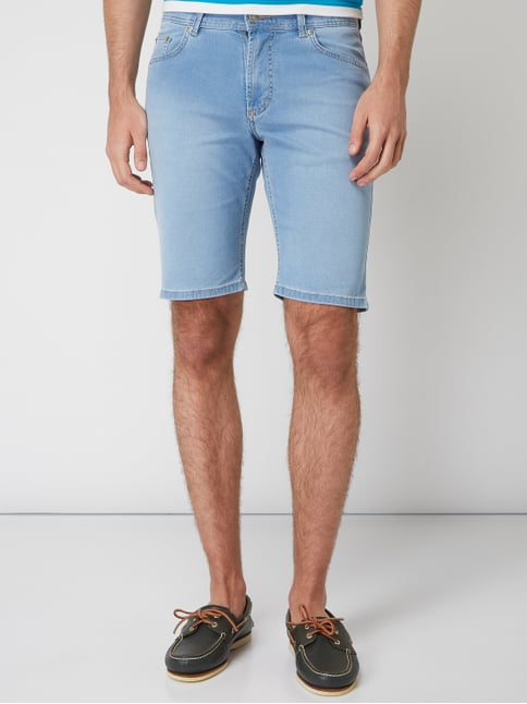 ... Christian Berg Men Stone Washed Tapered Fit Jeansshorts Hellblau - 1 e552a44cc8f