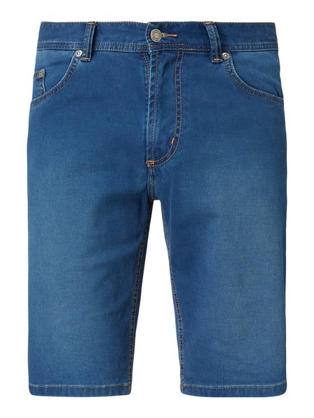 Christian Berg Men Stone Washed Tapered Fit Jeansshorts Blau / Türkis - 1