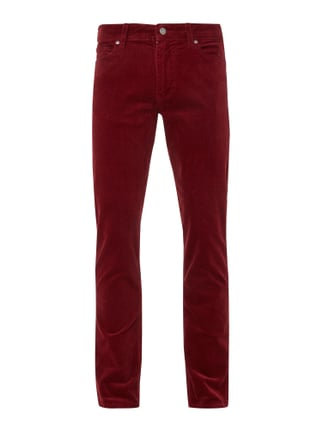 Straight Fit Cordhose mit Stretch-Anteil Rot - 1
