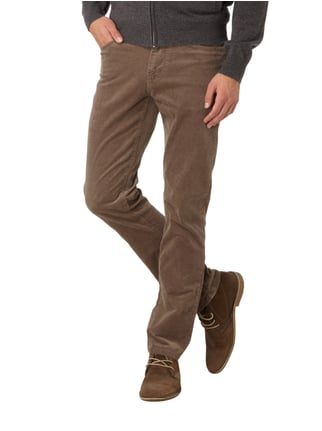 Christian Berg Men Straight Fit Cordhose mit Stretch-Anteil Schlamm - 1