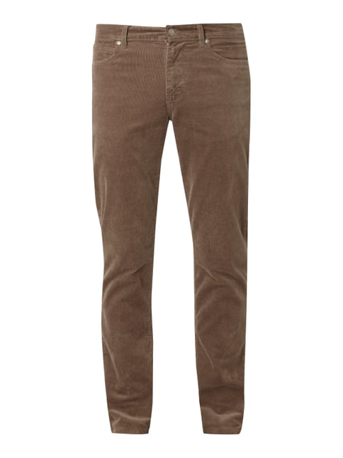Straight Fit Cordhose mit Stretch-Anteil Braun - 1