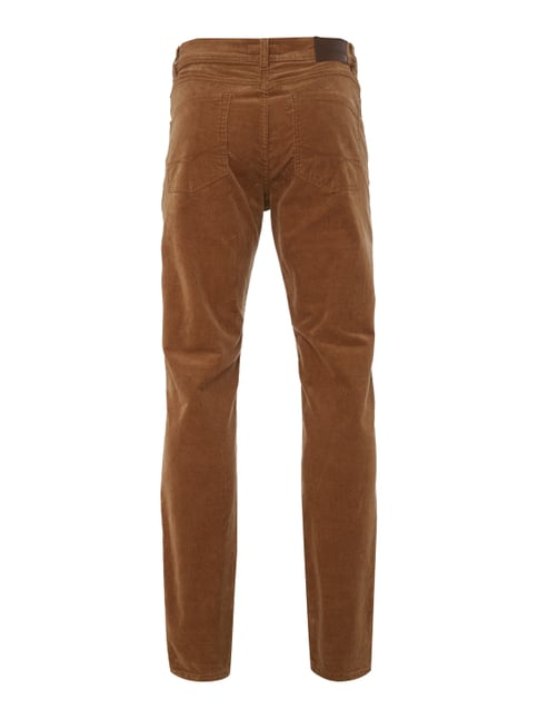 Christian Berg Men Straight Fit Cordhose mit Stretch-Anteil Senfgelb - 1