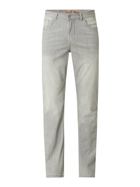 Christian Berg Men Straight Fit Jeans mit Stretch-Anteil Grau - 1