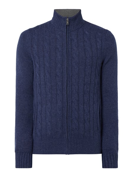 Christian Berg Men Strickjacke aus Kaschmir Blau / Türkis - 1