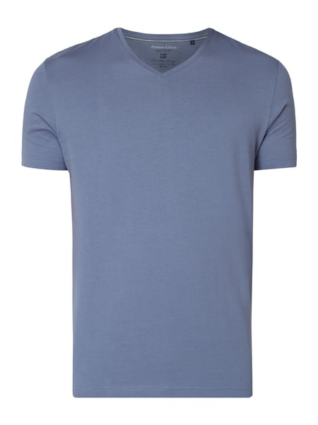 Christian Berg Men T-Shirt aus Supima®-Baumwolle Blau - 1