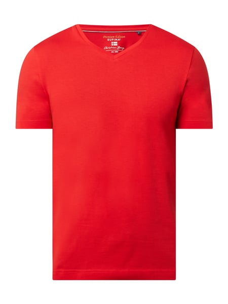 Christian Berg Men T-Shirt aus Supima®-Baumwolle Rot - 1