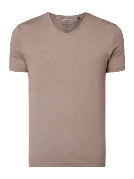 Christian Berg Men T-Shirt aus Supima®-Baumwolle Beige - 1