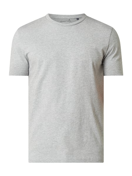 Christian Berg Men T-shirt met ronde hals Grijs - 1