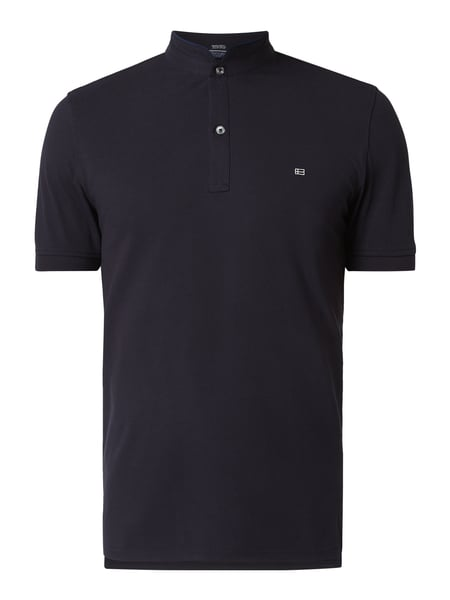 Christian Berg Men T-Shirt mit Logo-Stickerei Blau - 1