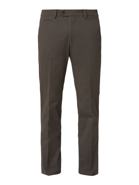 Christian Berg Men Tapered Fit Chino mit Stretch-Anteil Grau - 1
