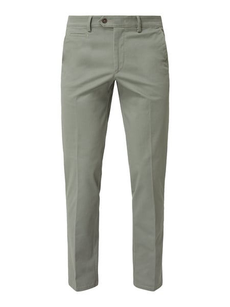 Christian Berg Men Tapered Fit Chino mit Stretch-Anteil Grün - 1