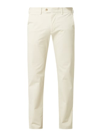 Christian Berg Men Tapered Fit Chino mit Stretch-Anteil Beige - 1