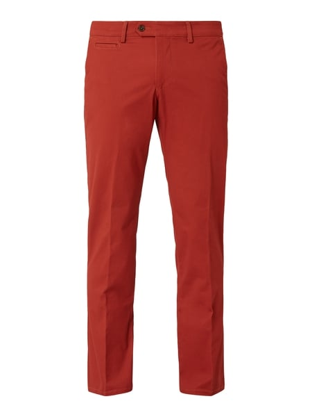 Christian Berg Men Tapered Fit Chino mit Stretch-Anteil Rot - 1