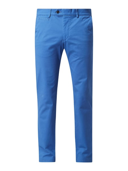 Christian Berg Men Tapered Fit Chino mit Stretch-Anteil Blau - 1