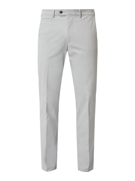 Christian Berg Men Tapered Fit Chino mit Stretch-Anteil Silber - 1