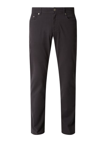 Christian Berg Men Tapered Fit Hose mit Webstruktur Grau - 1