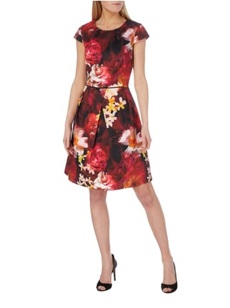Christian Berg Woman Selection Kleid mit floralem Muster in Rot - 1