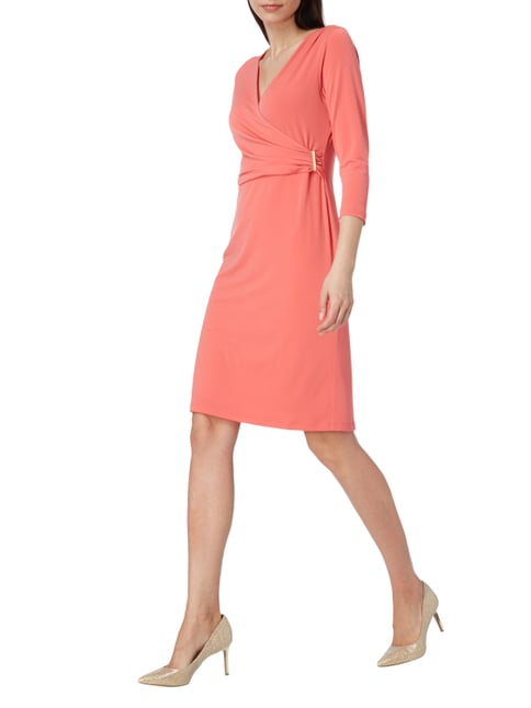 Christian Berg Woman Selection Kleid mit Oberteil in Wickeloptik in Rot - 1