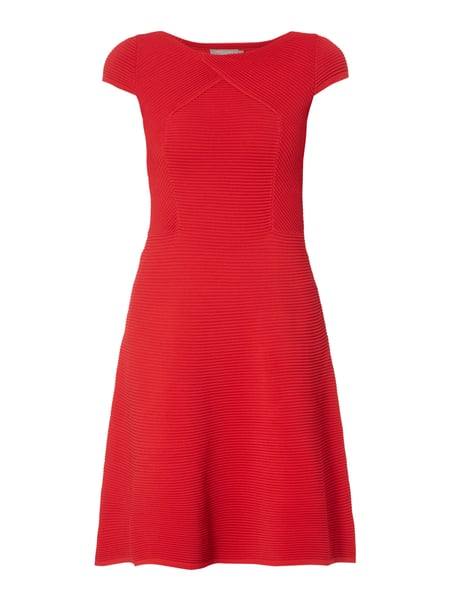 Christian Berg Woman Selection Kleid mit Rippenstruktur Rot