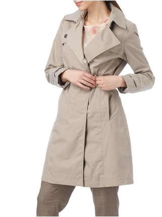 Christian Berg Woman Selection Trenchcoat mit verdeckter Druckknopfleiste Taupe - 1