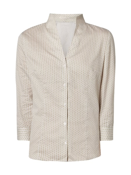 Christian Berg Women Bluse mit Punktemuster Sand