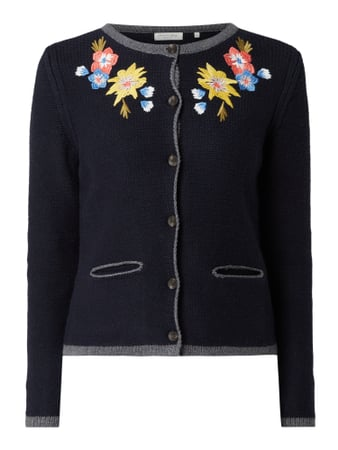 Christian Berg Women Cardigan im Trachten-Look Blau - 1