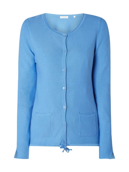 Christian Berg Women Cardigan mit Tunnelzug am Saum Blau / Türkis - 1