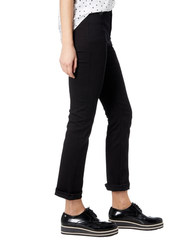 Christian Berg Women Coloured Jeans mit Pailletten-Besatz Schwarz - 1