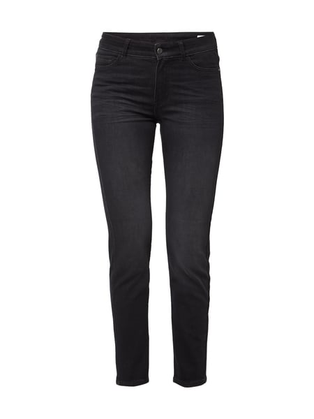 Christian Berg Women Coloured Skinny Fit 5-Pocket-Jeans Dunkelgrau
